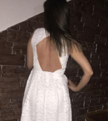 ZARA Bijela haljina otvorenih leđa