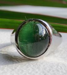prsten s turmalinom, 18K bijelo zlato