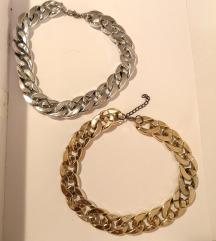 Srebrna i zlatna ogrlica / lančić
