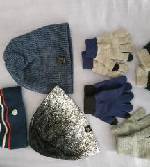 Komplet kapi i rukavica za djecake