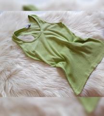 Zeleni ribbed, rebrasti top