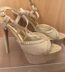 Sandale kao nove, visoka peta, udobne