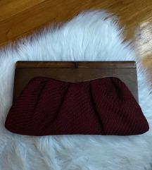 Cluch torbica 🍒drvo i tvid 👛UNIKAT