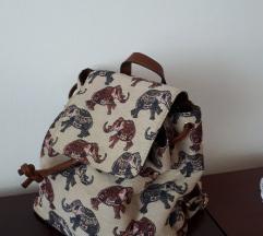 Bež ruksak sa slonićima PARFOIS