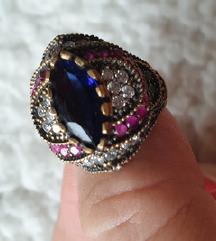 prsten srebro 925 i drago kamenje 18mm
