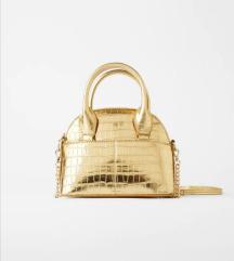 Zara nova zlatna torbica