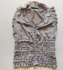 Zara metalik siva bluza