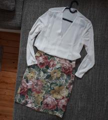 Pencil cvjetna suknja