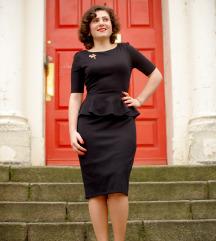 Crna peplum haljina
