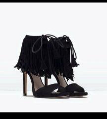 Zara sandale s resama 38