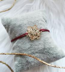 Narukvica božićna pahuljica