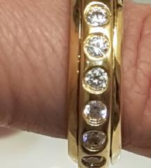 Masivan rotirajući prsten srebro pozlata