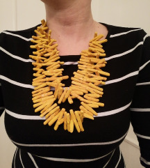 Žuta unikatna ogrlica