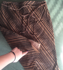 Vintage prugasta suknja