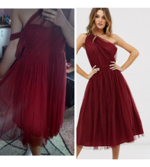ASOS crvena haljina preko ramena (ukljucena pt)