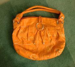 Narančasta kožna torba