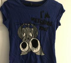 Plava majica šišmiš XS