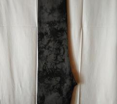 Antracit sivo crne BOULE batik hlače traperice 44