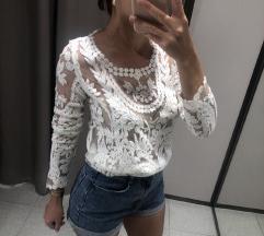 Čipkana pletena majica