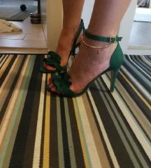 Ženska sandala s potpeticom Zelena Novo!