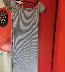Uska haljina bez ramena