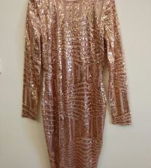 NOVA ASOS Rose Gold haljina