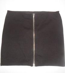 Crna mini suknja H&M, vel. 152-158 (odrasli XS)