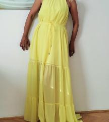 H&M duga žuta haljina