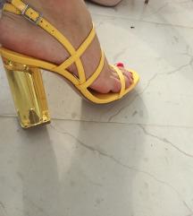 Žute Zara sandale 37 NOVO!!!