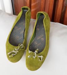 Zelene balerinke sa mašnicom PRAVA KOŽA