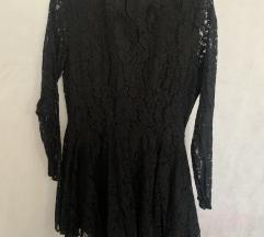 Nova crna čipkasta haljina 42