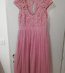 Roza haljina A kroja