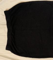 Crna pamucna mini suknja