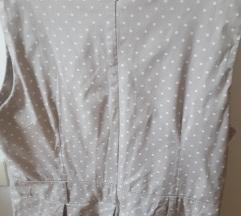 Haljina siva na točkice M