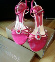Crvene damske sandale