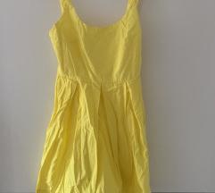 Zara zuta haljina otvorena leđa