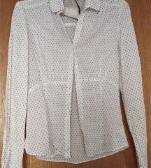 Bijela košulja sa bež točkama