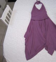 Ljubičasta haljina golih leđa
