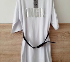 Majica haljina tunika s torbicom remenom