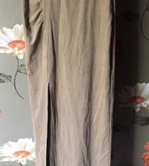 Dugacka AMISU suknja materijala poput brušene kože