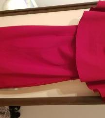 Crvena midi haljina
