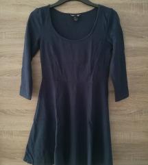 H&M tamno plava skater haljina