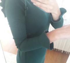 Zelena bershka haljina A kroja