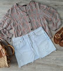 Zara traper minica + Bershka bluza