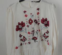 Zara kosulja izvezena bluza