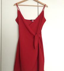 H&M crvena haljina 36