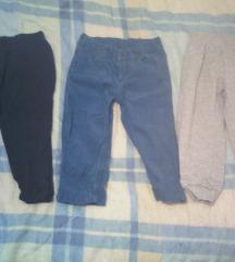 Tri para hlača za dečke vel. 86
