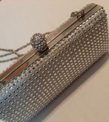 Super očuvana srebrna torbica