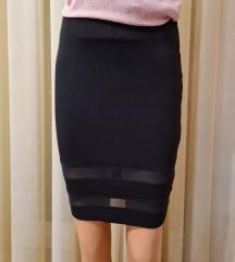 Crna suknja do koljena