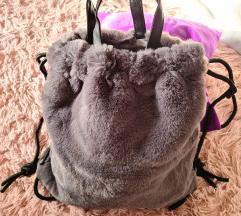 Krzneni ruksak u 3 boje, novo zapakirano